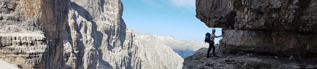 Auf dem Sentiero Bocchette Alte in der Brenta